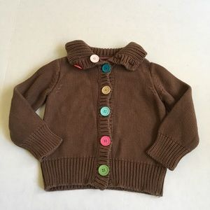 Baby Gap Brown Button up cardigan.